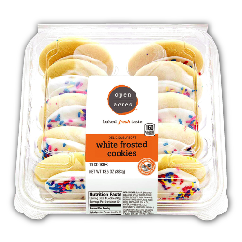 White Frosted Cookies from Open Acres Bakery Products