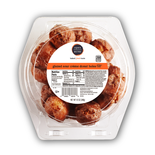 Donut holes from Open Acres bakery products