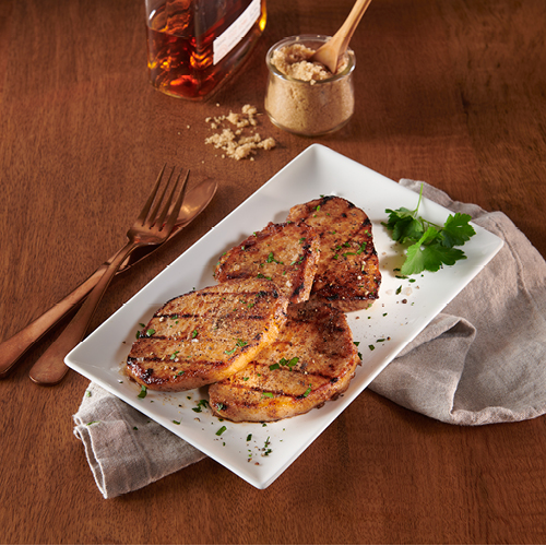 Bourbon brown sugar pork chops
