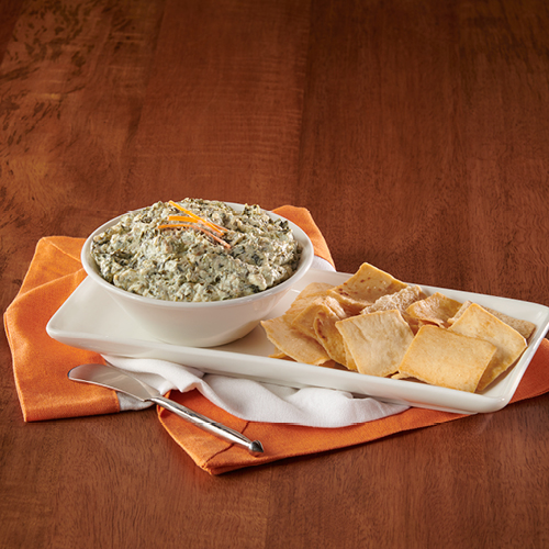 spinach dip nutrition label
